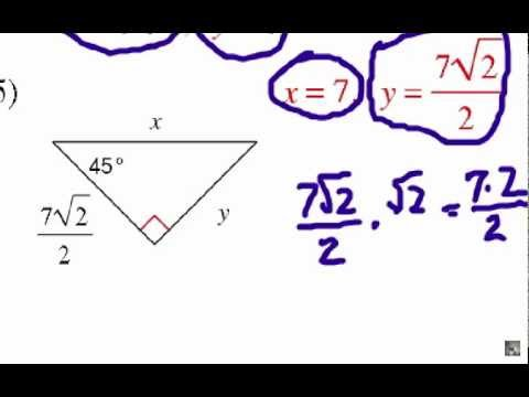 How to Solve Special Right Triangles: Problem Set #1