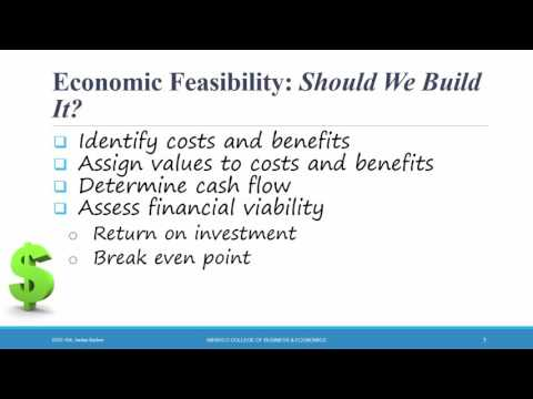 Systems Analysis & Design - Ch 1 - Feasibility Analysis