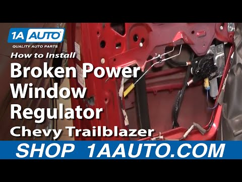 How To Install Replace Broken Power Window Regulator Chevy Trailblazer GMC Envoy 02-09 1AAuto.com