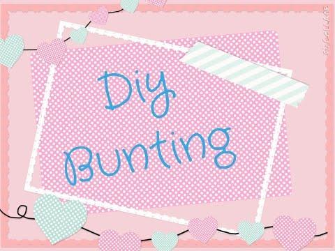 DIY Paper Bunting | SistersAndStuff