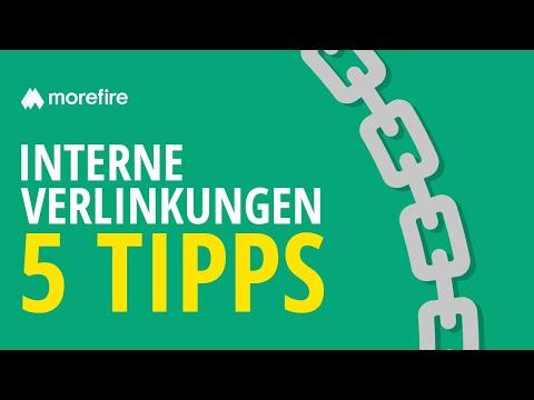 5 Tipps für eine gute interne Verlinkung | morefire