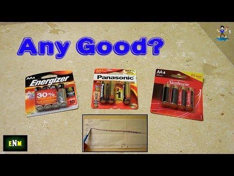 Dollar Store Alkaline AA/AAA Versus Energizer Max
