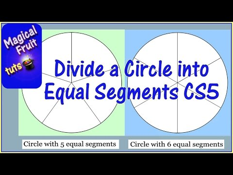 Divide a circle into equal segments in Photoshop CS5