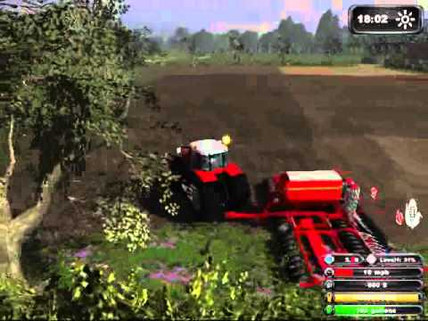 Farming Simulator 2011 - Massey Ferguson Drilling Maize