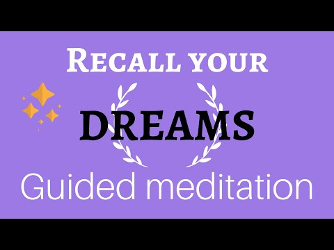 Dream recall Hypnosis - Remember your dreams - Guided meditation sleep binaural experience