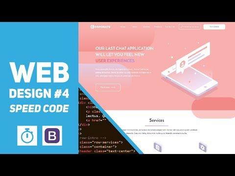 Web Design #4 - SVG Design - Speed Code (Bootstrap 4, Illustrator)