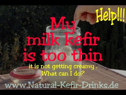 My milk kefir is too thin - it is not getting creamy / thicken . What can I do?