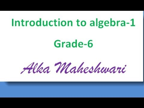 Introduction to algebra for class 6 students, terms, constants and variables