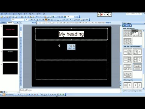 How to insert an excel graph into a PowerPoint presentation.