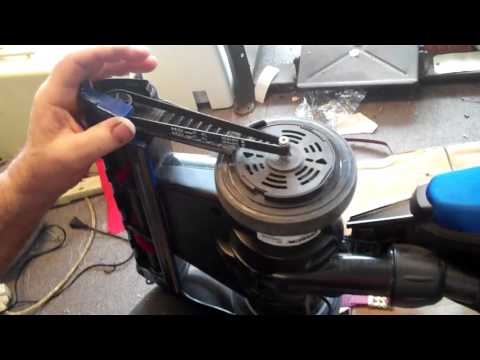 how to replace belt oreck magnesium vac sew dr modesto california