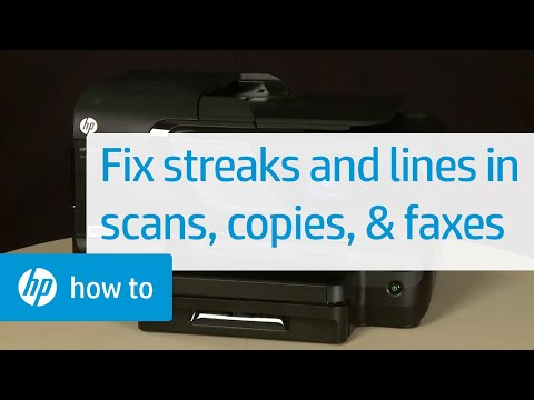 Fixing Streaks and Lines in Scans, Copies, and Faxes - HP Officejet Pro 8600 e-All-in-One Printer