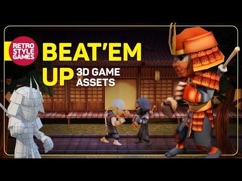 Beat 'em up 3D game-assets for Unity demo