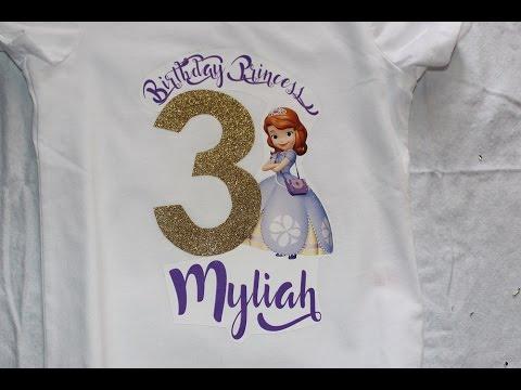 EASY Birthday Shirt DIY!