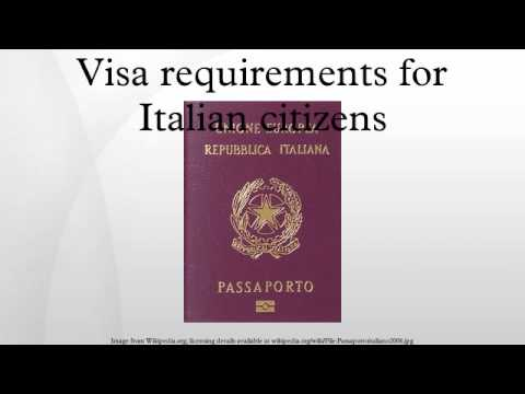 Visa requirements for Italian citizens