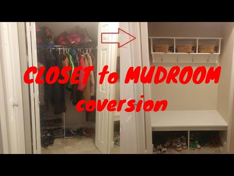 Closet to Mudroom conversion - Bench seat