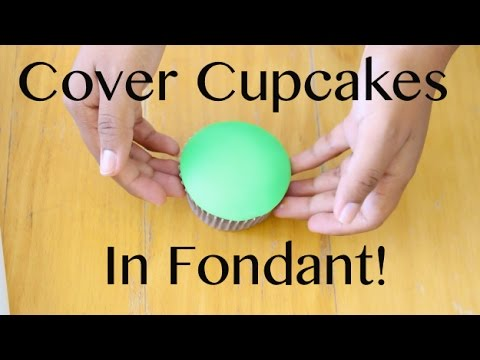 How to Cover a Cupcake with Fondant!