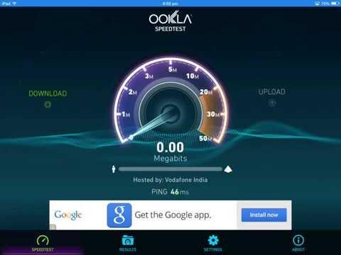 Speedtest for iPad ( on Wifi )