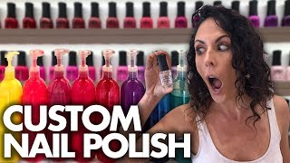 Making Our Own Custom NAIL POLISH! (Beauty Trippin)