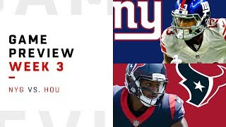 New York Giants vs. Houston Texans | Week 3 Game Preview | NFL Playbook