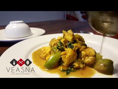 Veasna's Khmer Chicken Char Kreung - How to Cook Cambodian Food