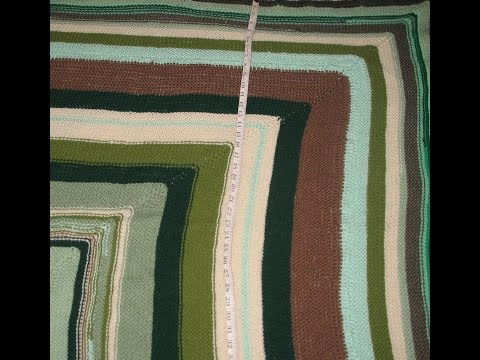 mr.  zack's knitted mitered square blanket - no music - photomontage