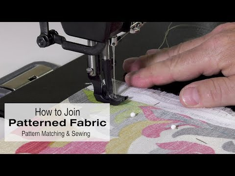 How to Join Patterned Fabric - Pattern Matching & Sewing