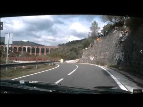 Onboard Kubica rally Catalunya-costa Daurada ss23 2015