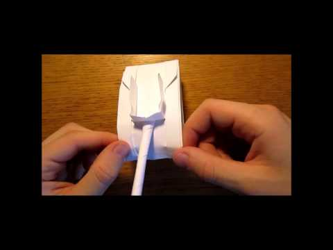 Paper tank. Origami tank [easy 3 minutes]