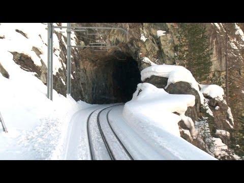 Zermatt to Gornergrat Railway - Driver's View Part 1