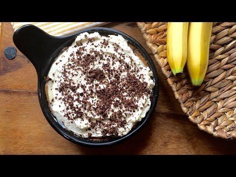 Homemade Banana cream pie recipe | Recette Tarte banane à la crème