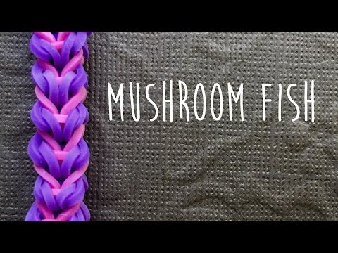Rainbow Loom Bands Mushroom Fish Braid