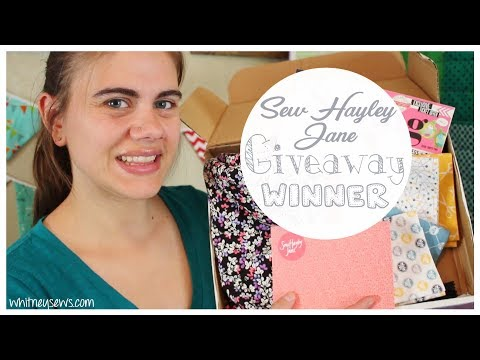 SEE IF YOU WON! Sew Hayley Jane Winner Announcement