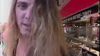 1991 metal band talks to elderly man at farmer