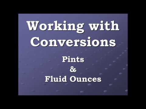Converting pints to cup to fluid ounces and back again