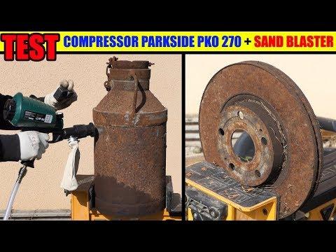 remove rust air sandblaster compressor lidl parkside pko 270 metal steel remover