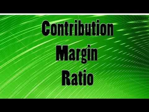 Contribution Margin Ratio (Break Even Analysis)