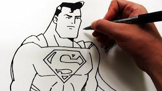 Como Desenhar O Superman Animated Series How To Draw Superman Slay De