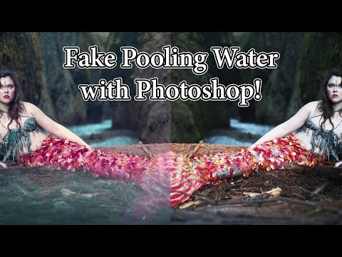 How to Create Fake Water & Add Liquid Texture to Photos | Adobe Photoshop Tutorial by Temperate Sage