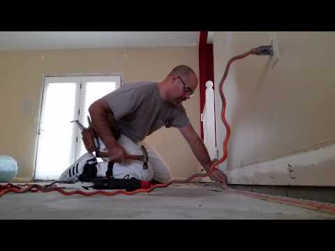 How to install concrete tack strip