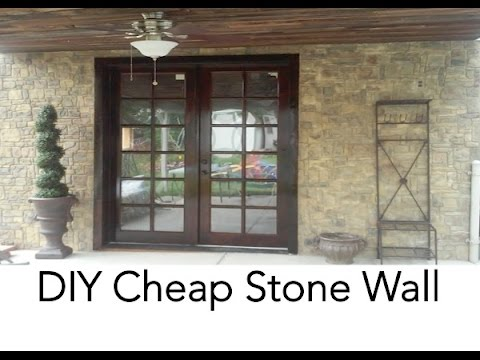 DIY Cheap Stone Wall | DIYCHEAPSKATE