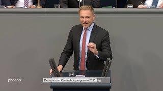 Christian Lindner (FDP) zur Klimaschutzdebatte