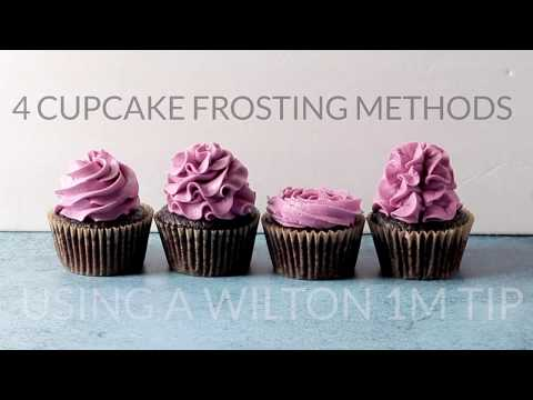 Four Ways to Frost a Cupcake with a Wilton 1M Tip