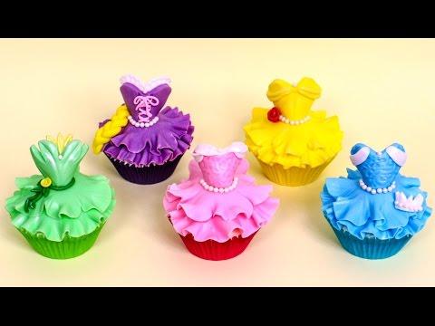 DIY Disney Princess CUPCAKES - How to make by CakesStepbyStep
