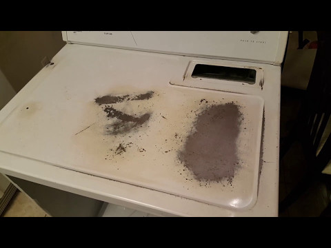 Saving $300!!  - Make your Washer Dryer Like New Again!! Sanding and Repainting your Washer Dryer