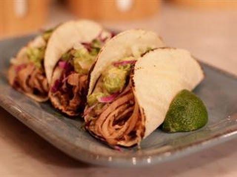 Stephanie O' Dea's Slow Cooker Chipotle Pork Soft Tacos