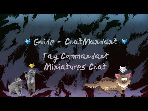 [Guide] Tag Chat Commandant + Miniatures Chat  Bleu / Jaune - Guild Wars 2