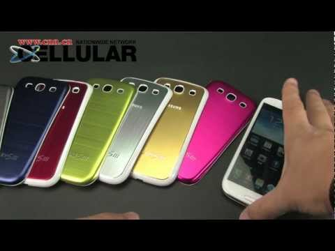 Samsung Galaxy S3 GPS navigation testing demo on brushed metal insert battery cover