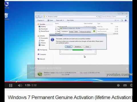 How to make windows 7 Genuine / activate permanently - No Gimmicks or tricks here -.Windowsloader