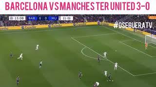Super doblete de Messi ft al Manchester United 3-0 Global 4-0 Goals Highlights