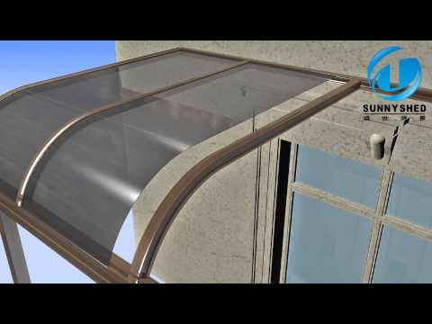 How to build terrace awning with aluminum frame
